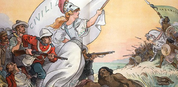 How did British imperialists justify their actions?