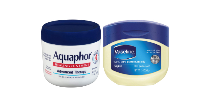 A lot of people think that Aquaphor and vaseline are the same as each other. They have some slight