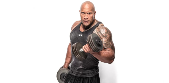 How much weight can Dwayne Johnson benchpress?