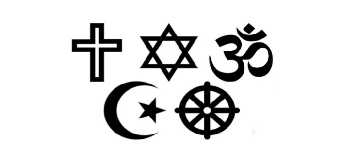 The seven major religions include Christianity, Islam, Judaism, Hinduism, and Taoism. Taoists, for