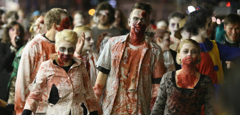 Zombies are not real so they can't be dangerous to humans. However, some people who believe