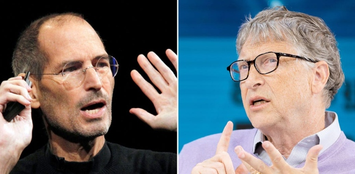 Steve Jobs and Bill Gates are both famous for their contribution to science and technology. They
