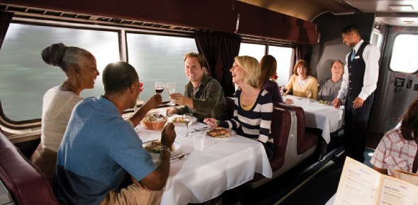 A lot of people who have ridden a lot of trains will tell you that most of the food served on the