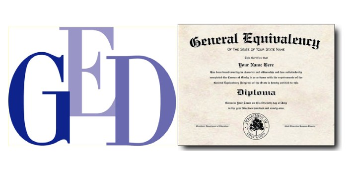 A GED is also known as a General Equivalency Degree. This can be received by taking some tests and