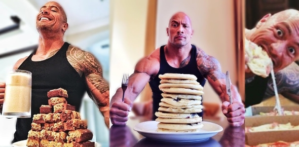 What does Dwayne Johnson eat?