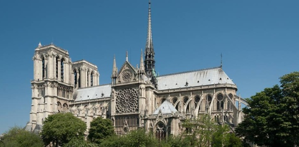 The Notre Dame Cathedral was constructed in the honor of the Virgin Mary. Even the names translates
