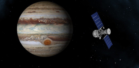 How long do satellites take to reach Jupiter?