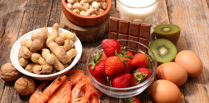 Food allergies occur when your body comes in contact with a certain food, whether by digestion or