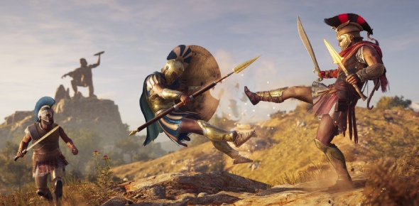 How will two playable characters impact Assassins Creed Odyssey?