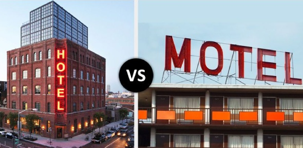 What is the difference between a hotel and a motel?