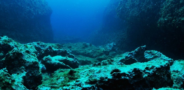 How do underwater earthquakes affect the ocean floor?