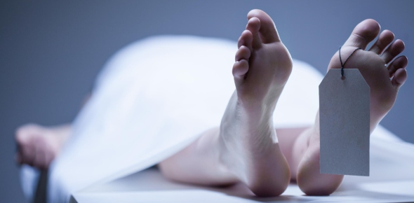 After death, the body starts degenerating. Since the heart has stop working, there is no oxygen