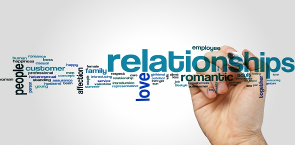 The word RELATIONSHIP does not really have a short form but you can see some people writing the