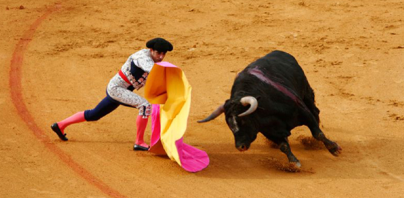 Bullfighting is a sport that most likely originated in Spain because Spain is most commonly known