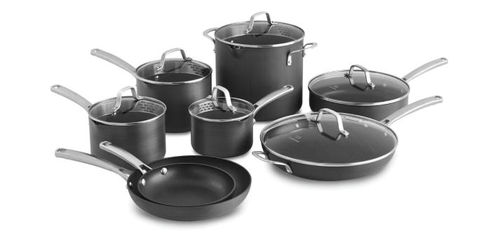 Cookware and bakeware are types of food preparation containers commonly found in a kitchen.