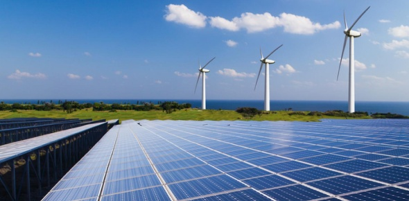 Wind and solar power are both alternate forms of energy. They are the two most popular