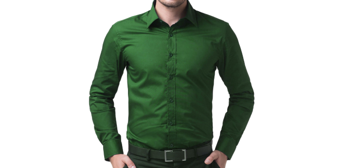 The wrist watch you wear can either make or break your outfit. With a dull green shirt, the color