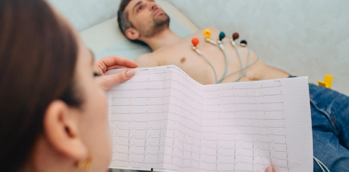 ECG is the short form of Electrocardiogram, while EEG is the short form of Electroencephalogram.