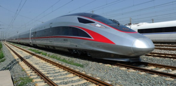 The fastest train in the world right now is the Shanghai Maglev. This is a train that is known to