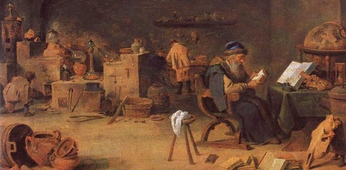 Alchemy is the name of the study. People who study alchemy are known as alchemists. It is an old
