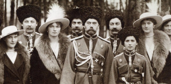 The Romanov family (Tsar Nicholas II, wife, 5 children and many others) were shot in Yekaterinburg