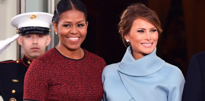 One of the obvious differences between Michelle Obama and Melania is that the former is the wife of