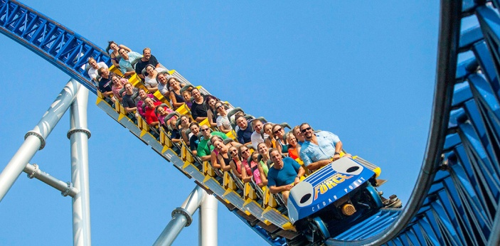 I love rollercoaster rides. However, as the older I have gotten, I have realized that I can't