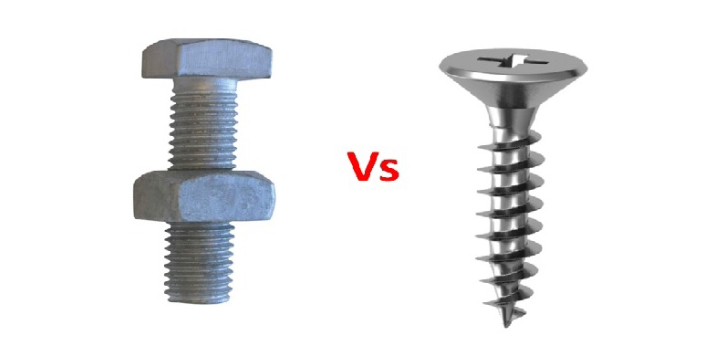 Bolt and Screw are two examples of fasteners. Both devices are used to fasten metal bodies or