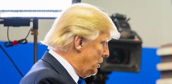 Why did Donald Trump dye his hair blonde?