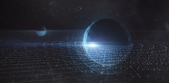 This is a theory still being developed in physics that attempts to take account of both quantum