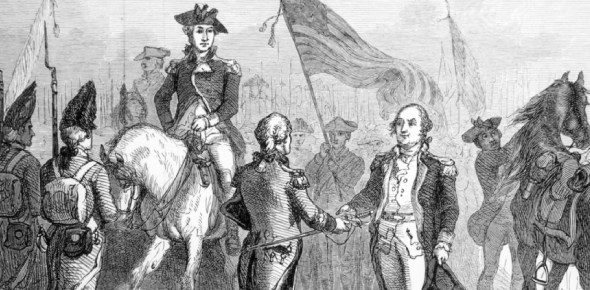 Why did the Americans fight the British in their first war ever?