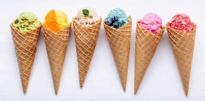 """When you hear the word """"gelato,"""" you should realize that this is the Italian word for"""