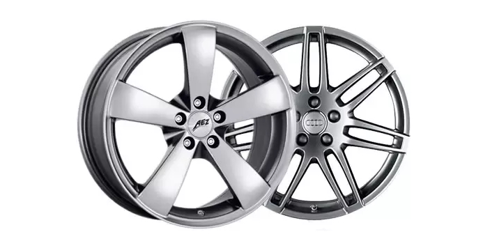 Aluminum and alloy wheels both refer to the same thing. Alloy is a shorter and another word for