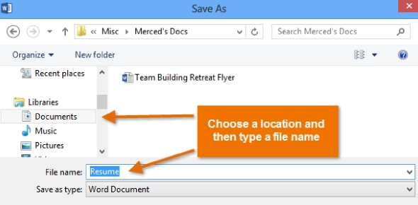 What do you need to do in order to save an existing document with a different name? <br/>
