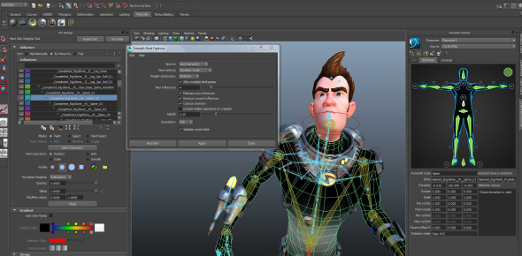 Both are animation tools, which help the animator create better. Maya is mainly used for video