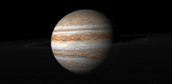 How large is Jupiter's atmosphere?