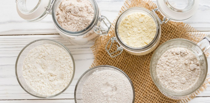 Fine flour differs from normal wheat flour by being thoroughly sifted, and a soft wheat, high in
