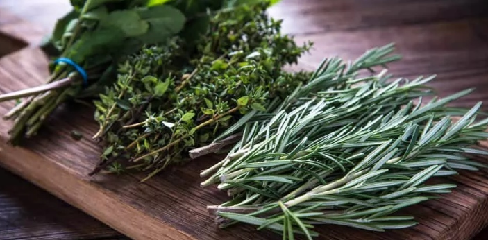 Herbs usually come from the leaves of the plant. They are naturally aromatic which can make them a