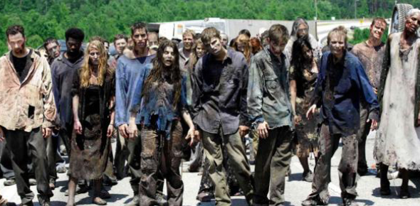 Zombies have become popular because they have been in movies. People who watched horror movies that