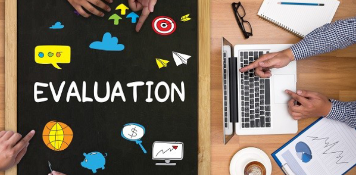 An evaluation means that you are going to analyze something. You need to decide what the value of