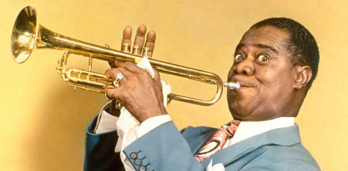 Louis Armstrong was known for playing his trumpet. He played mostly jazz music and became a
