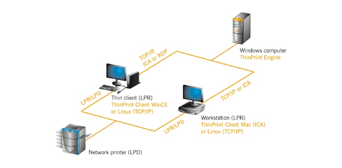 Two standard networking computer protocols are LPR and RAW. Both LPR and RAW protocols are involved