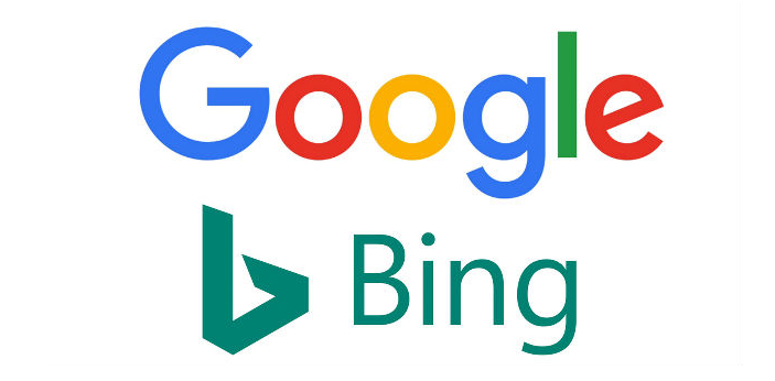 Google and Bing are both search engines and they belong to different companies. While Google is