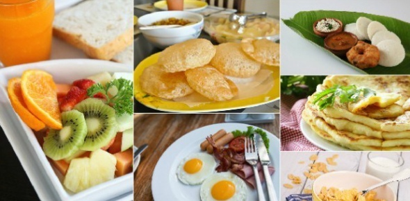 Breakfast is simply the first meal of the day, so yes, all cuisines involve a breakfast though the