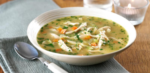 The soup got its name from the French word soup whichmeans broth, basically. That word comes from