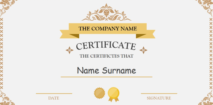A certificate can sometimes be given to people who would complete a short course or training over a