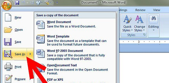 How many ways are there to save a document?