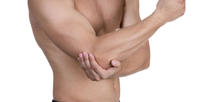 The elbow is the joint between the upper and lower parts of the arm. The knee joins the thigh bone,