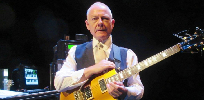 Robert Fripp, an English guitarist, composer, and record producer is from the band, King Crimson.