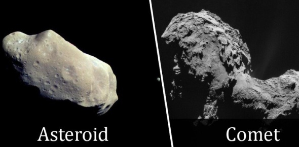 What is the difference between a comet and an asteroid?